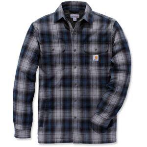 Carhartt Hubbard Sherpa Lined Hemd Blau M