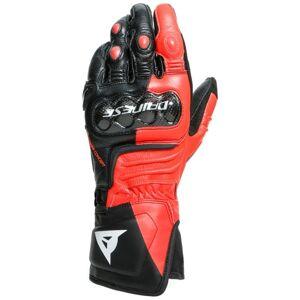 Dainese Carbon 3 Long Motorradhandschuhe Schwarz Weiss Rot XS