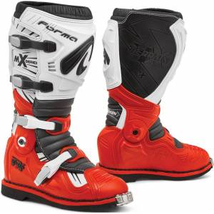 Forma Terrain TX 2.0 Motocross Stiefel Weiss Rot 49