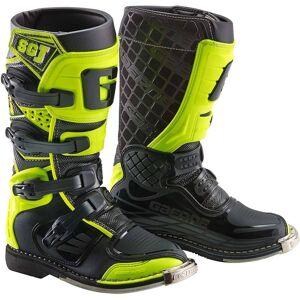 Gaerne SG-J Kinder Motocross Stiefel Schwarz Gelb 36