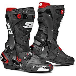Sidi Rex Air Motorradstiefel Schwarz Rot 40