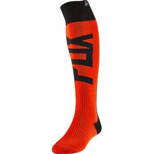 FOX Fyce Fri Thick Motocross Socken Schwarz Orange M