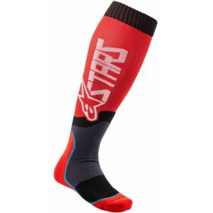 Alpinestars MX Plus-2 Motocross Socken Schwarz Rot M