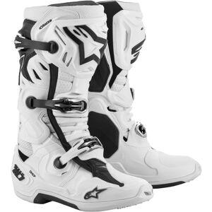 Alpinestars Tech 10 Supervented Motocross Stiefel Weiss 48