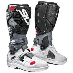 Sidi Crossfire 3 SRS Motocross Stiefel Schwarz Grau Weiss 42