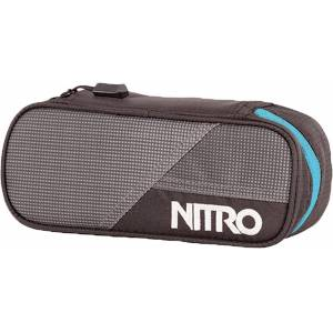 Nitro Pencil Case Federmäppchen Grau Blau Einheitsgröße