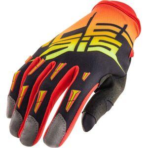 Acerbis MX-X2 2017 Motocross Handschuhe Schwarz Orange 2XL