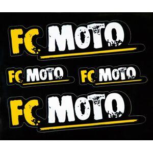 FC-Moto Aufkleber Set Schwarz Gelb Einheitsgröße