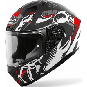 Airoh Valor Claw Helm Schwarz Weiss Rot S