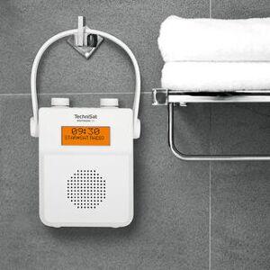 TechniSat Digitradio 30, portables Duschradio, weiß