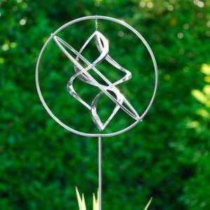 Home to Garden Ltd Edelstahl-Windspiel, Wind Dancer , Edelstahl, Edelstahl-Skulptur, rostfrei