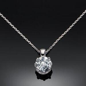 Facet Barcelona Einheitsgröße - Diamantkette, 3 Karat-Optik