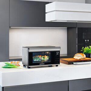 Gastroback GmbH Gastroback 42814 Design Bistro Ofen Bake & Grill mit Drehspieß, 26l Garraum, 9 voreingestellte Programme, antihaft-beschichtet, Braten, Grillen,Backen