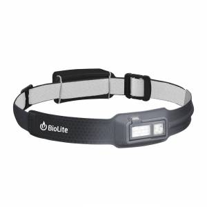 BioLite HeadLamp Stirnlampe, 330 Lumen, grau, 5 Lichtmodi