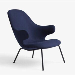 &tradition Catch Lounge JH14 Sessel Gestell rundes Stahlrohr schwarz, Stoff blau Divina 3 793
