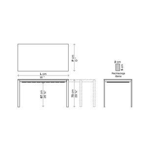 Kristalia be-Easy Fenix-NTM® Tisch ausziehbar 79 x 123 / 163 / 203cm Tischplatte weiß Kos 0032, Beine weiß lackierter Stahl