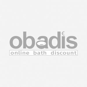 Burgbad Eqio LED Keramik-Waschtisch Unterschrank-Set SEZB123F2010001 123 x 66,5 x 49 cm, Grau Hochglanz, 1 Schublade/Auszug, Waschtisch weiß