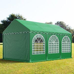 Profizelt24 Partyzelt 4x6m PVC 550 g/m² dunkelgrün wasserdicht Gartenzelt, Festzelt, Pavillon