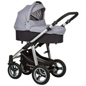 MÖBELIX Kinderwagen Country Baby Grau/Schwarz