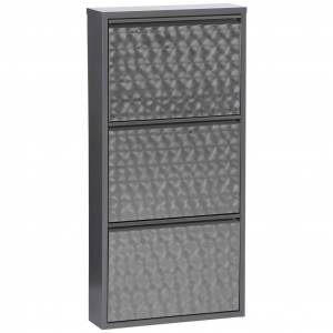 MÖBELIX Schuhschrank Mac B: 50 cm Grau