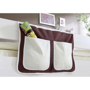 MID.YOU Betttasche aus Baumwolle Mit 2 Fächern, Braun/Beige