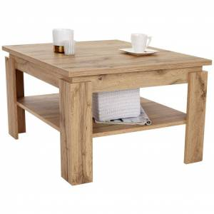 MÖBELIX Couchtisch Holz Mit Ablagefach Nizza 1, Wotan Eiche Dekor