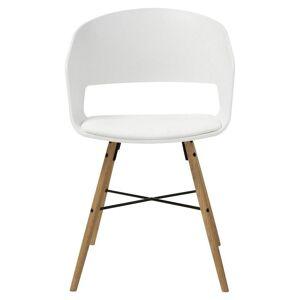 MÖBELIX Armlehnstuhl Cai Sitzfläche Gepolstert Lederlook Weiß