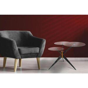 MÖBELIX Beistelltisch mit 3 Tischplatten Triplet Grau