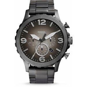 FOSSIL Armbanduhr 'NATE' graphit / silber