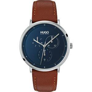 HUGO Uhr 'Guide Business' blau / braun / silber