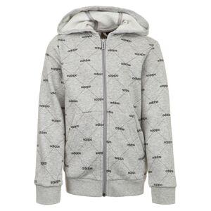 Adidas Jacke 'CF Coverup' graumeliert / schwarz