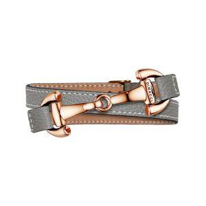 Dimacci Armband 'Alba' braun / bronze / silbergrau / naturweiß