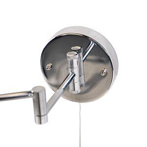 QAZQA Runder Schminkspiegel Zugschalter aus Chromstahl x2 - Vicino