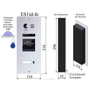 Anykam ES1ID Edelstahl Aussenstation mit RFID f Video Türsprechanlage