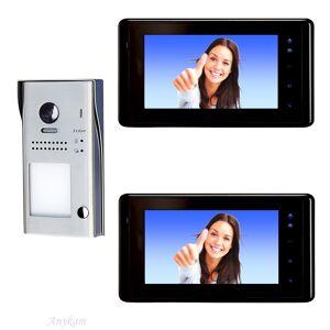 Anykam 617S1 2xDT27B Video Türsprechanlage Videosprechanlage Einfamilienhaus 2Draht