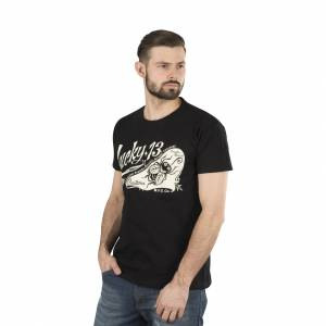 Lucky 13 T-Shirt Lucky 13 Pin Fly Schwarz