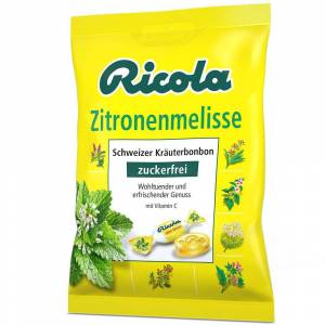 Ricola® Schweizer Kräuterbonbons Zitronenmelisse ohne Zucker 75 g Bonbons