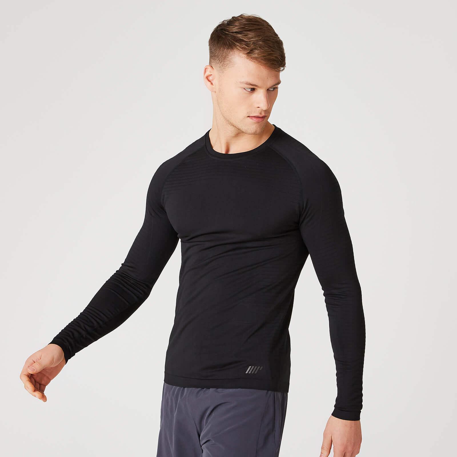 Myprotein Elite Seamless Long-Sleeve T-Shirt – Zwart - S