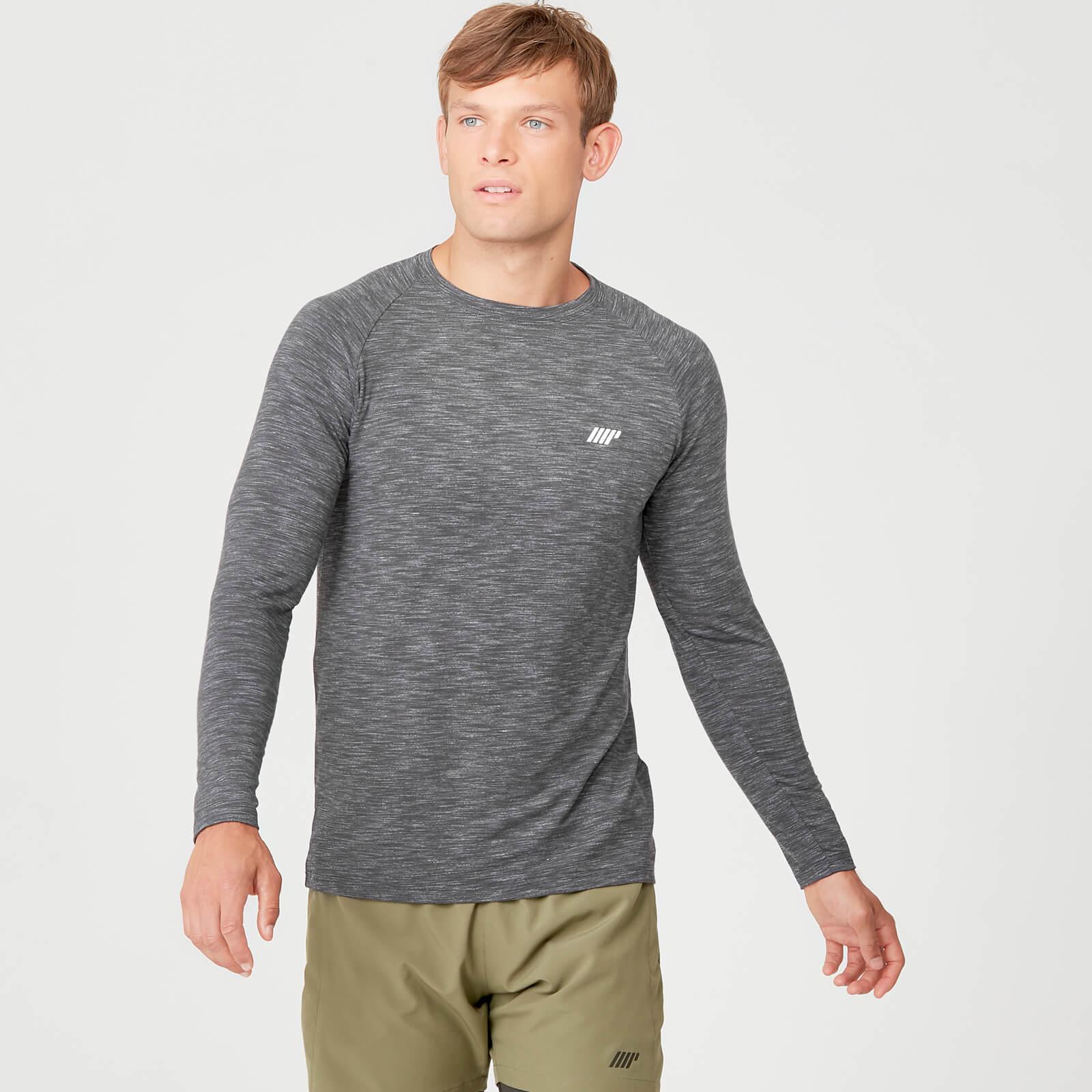 Myprotein Performance Long-Sleeve T-Shirt - Black Marl - XL