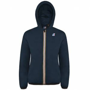 K-Way Vestes printemps/été unisexe Capuche Regularfit Paquetable Le Vrai Claudette Light Warm 3.0 Bleu Marine Foncé