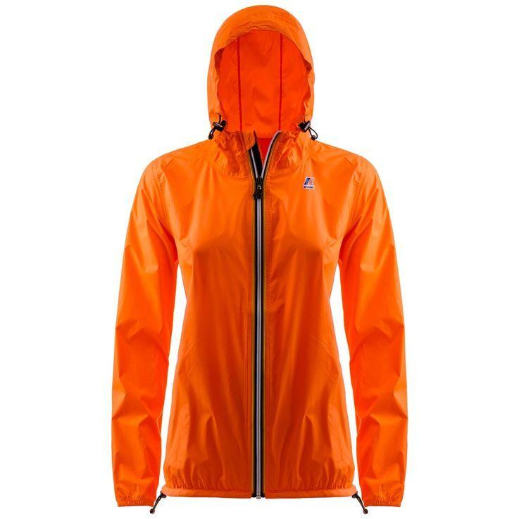 K-Way Vestes printemps/été unisexe Capuche Regularfit Paquetable Le Vrai Claudette 3.0 Orange Fluo - XS