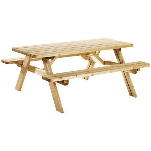 Manutan Table De Pique-nique Repliable Éco - Pin
