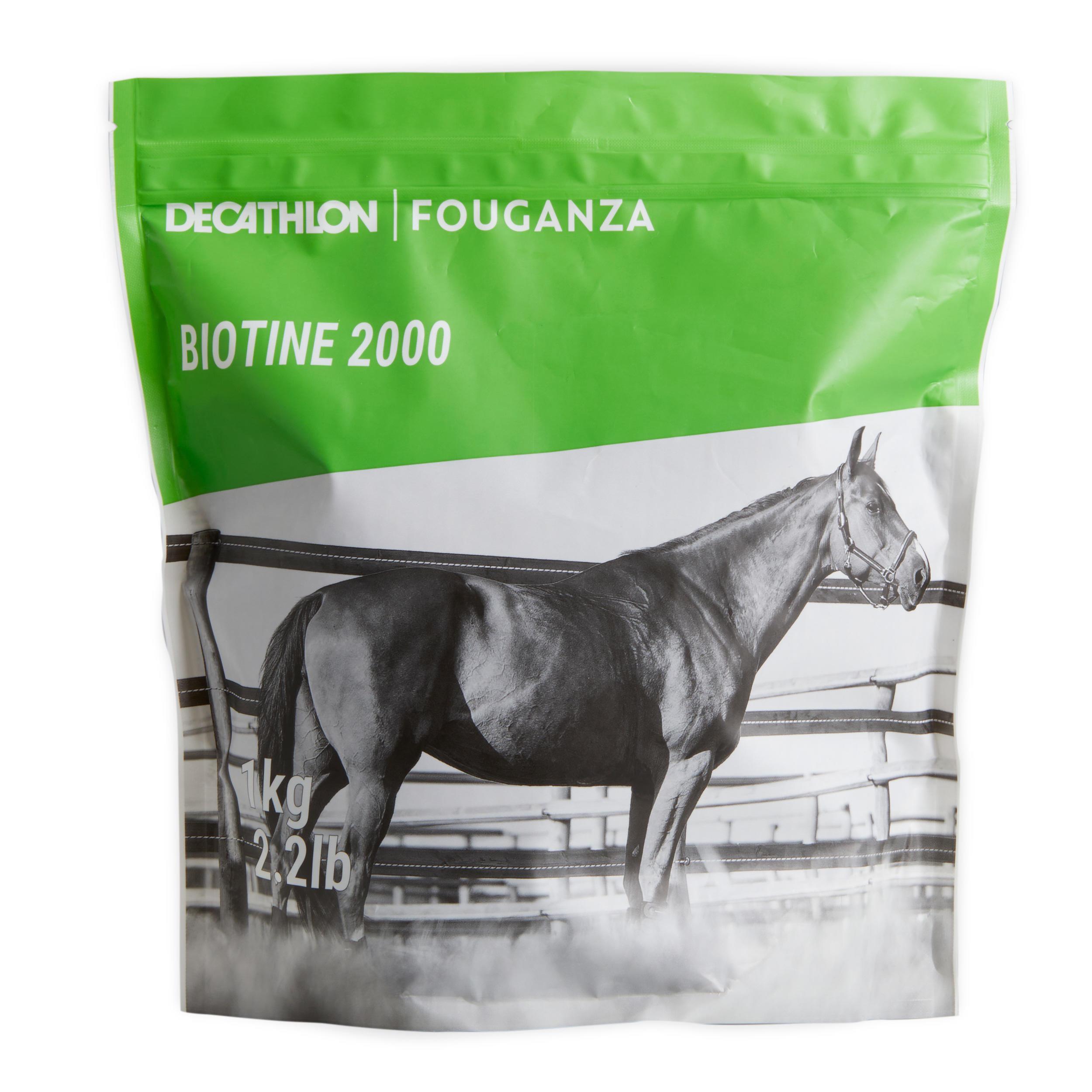 Fouganza Complément alimentaire équitation cheval et poney BIOTINE - 1KG - Fouganza