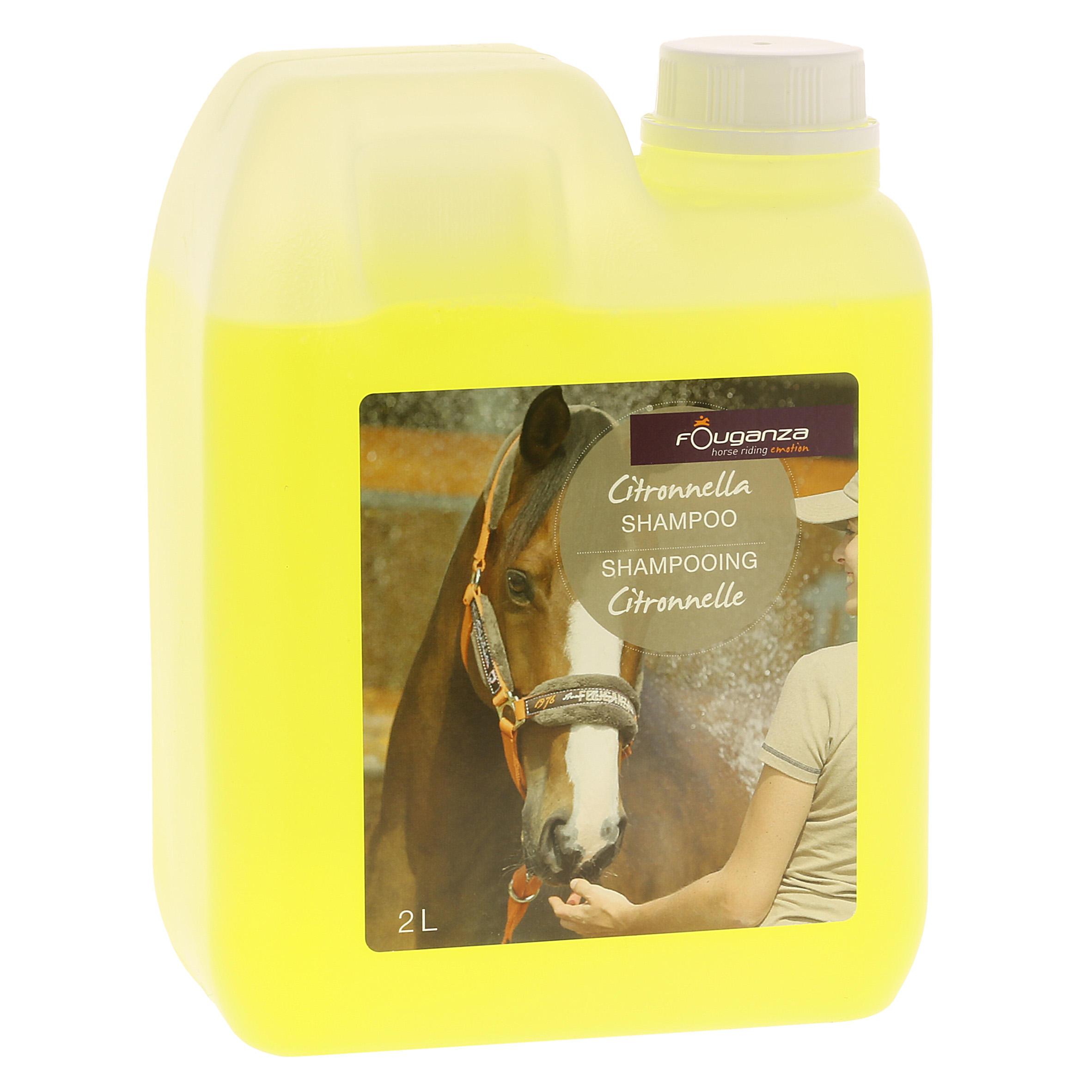 Fouganza Shampoing équitation cheval et poney CITRONNELLE 2 L - Fouganza