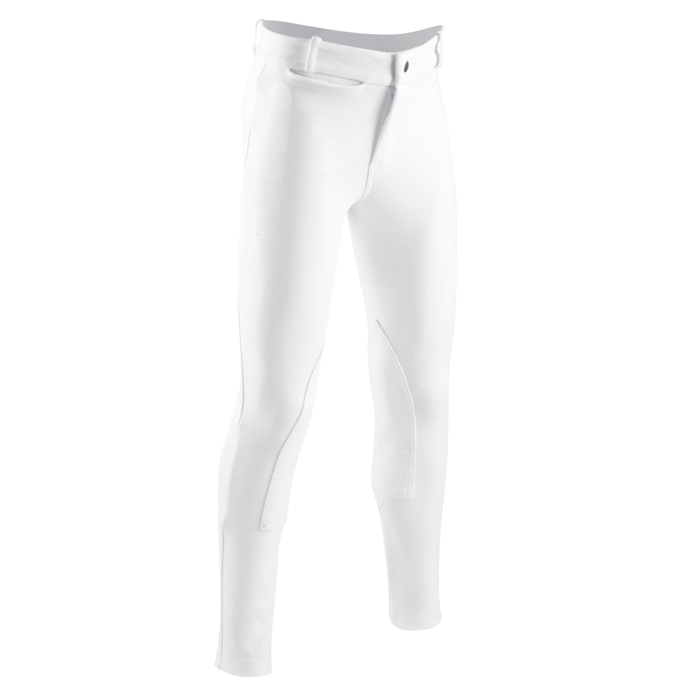 Fouganza Pantalon de concours équitation enfant 100 blanc - Fouganza