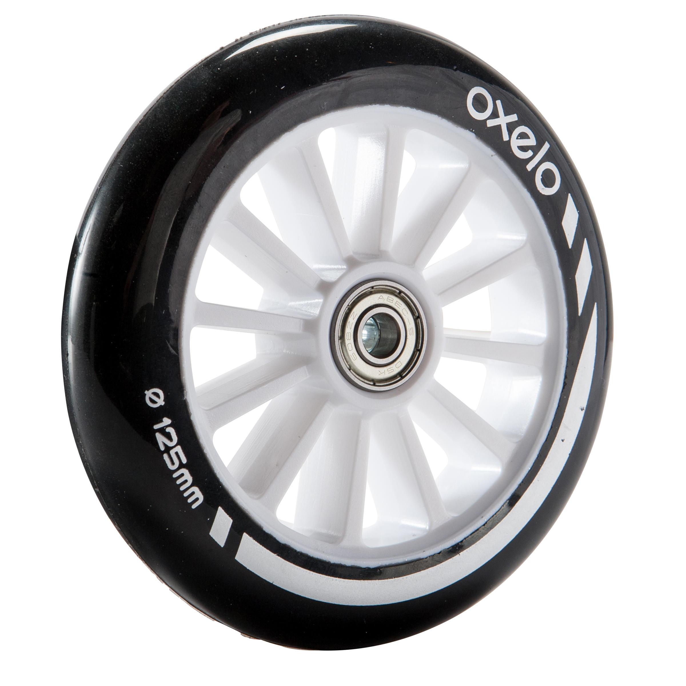 Oxelo 1 roue trottinette 125mm avec roulements noire - Oxelo