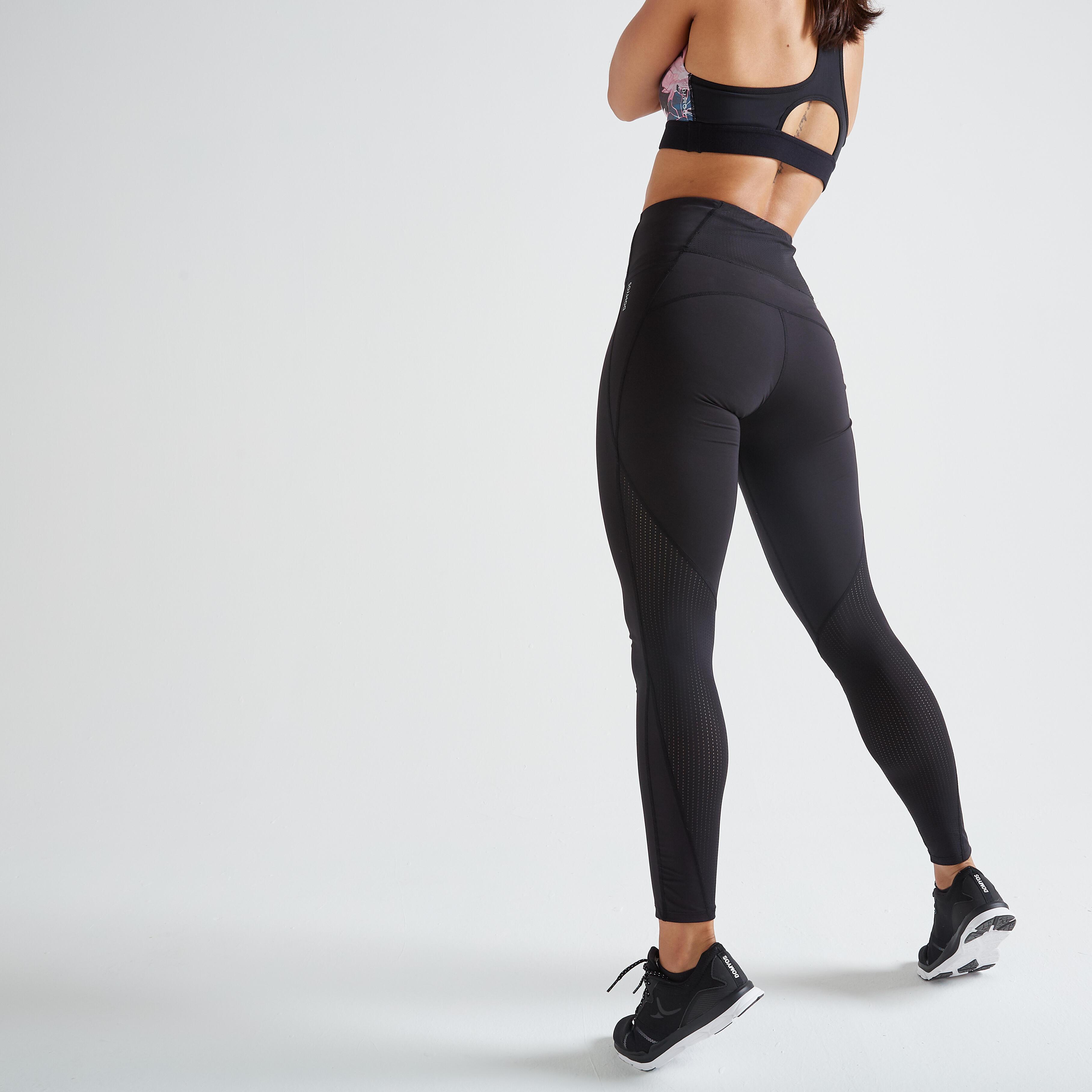 Domyos Legging fitness cardio training femme noir 500 - Domyos