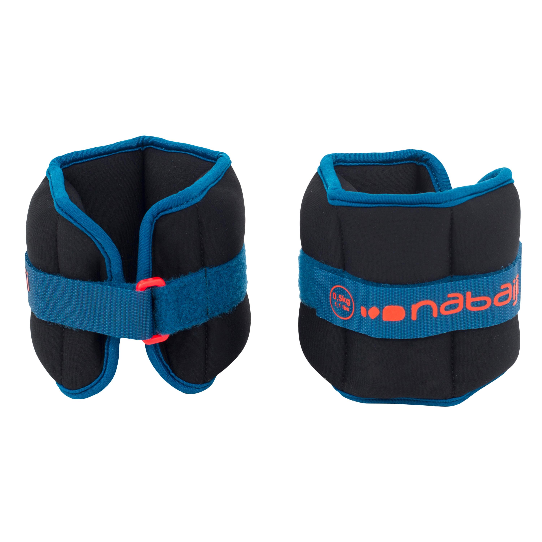 Nabaiji Bracelets Lestés d'Aquafitness noir orange. 2*0,5 KG - Nabaiji