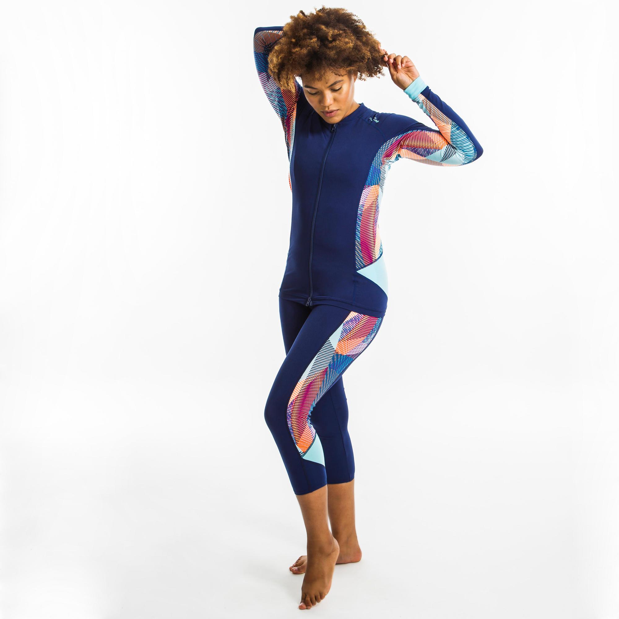 Nabaiji Legging d'Aquafitness femme vib bleu - Nabaiji
