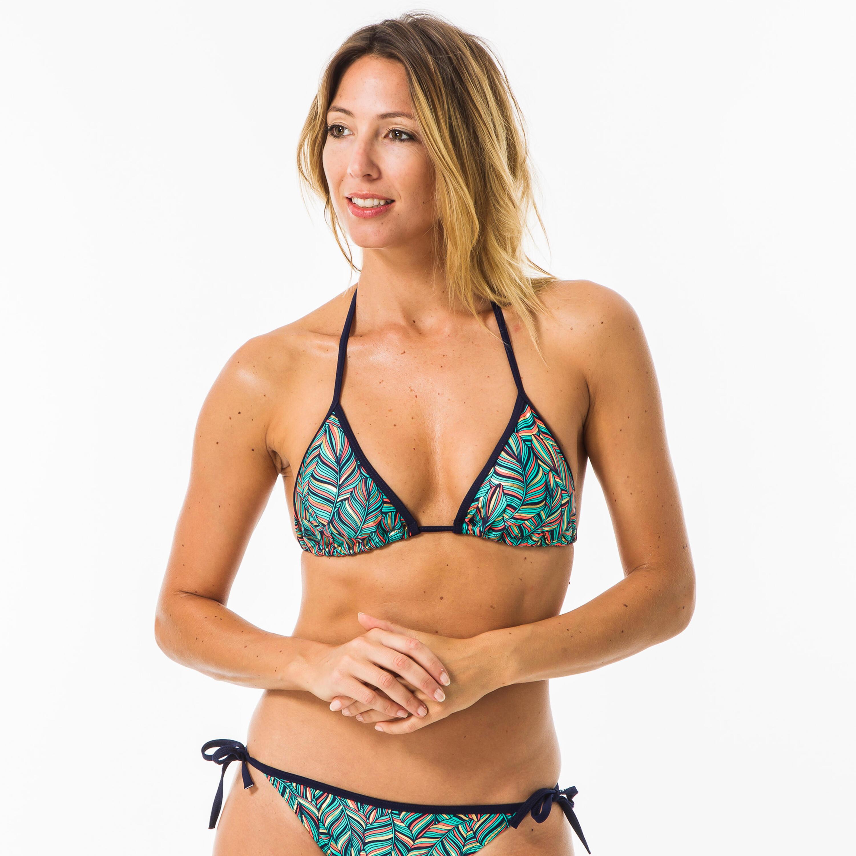 Olaian Haut de maillot de bain femme triangle coulissant avec coques MAE FOLY - Olaian
